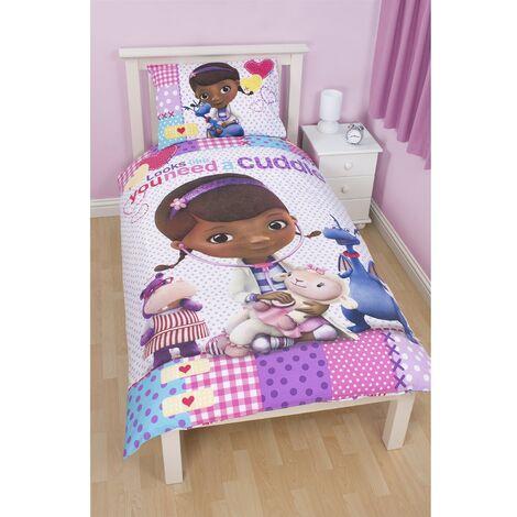 Disney Docteur la Peluche - Parure de lit simple réversible - Fille (Lit simple) (Blanc)