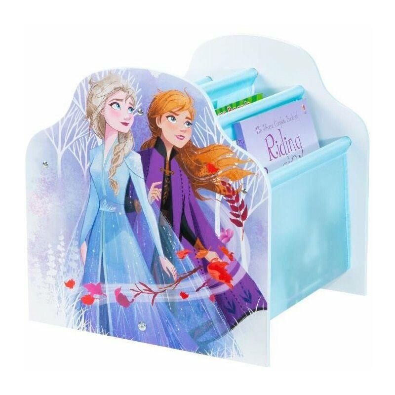 DISNEY FROZEN Bibliotheque a pochettes La Reine des Neiges - Rangement de livres pour chambre d'enfants - Bleu