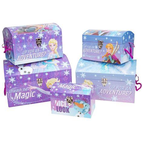 Disney Frozen Set of 5 Storage Trunks Chests