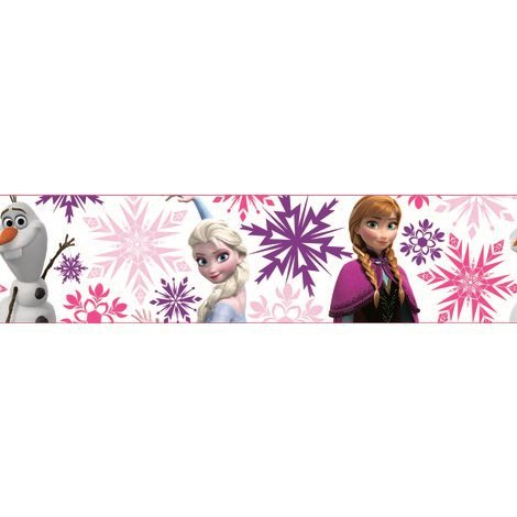 Disney La Reine Des Neiges Frise Auto-Adhesive Anna Elsa Rosa Multi 5 m x 15 cm