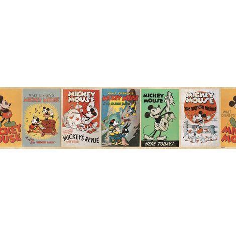 Disney Mickey Vintage 5 Meters Wallpaper Border (Was £10)
