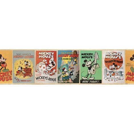 Disney Mickey Vintage 5 Meters Wallpaper Border (Was £9)