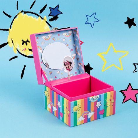 Disney Minni Mouse Musical Jewellery Box - Rainbows Make Me Smile