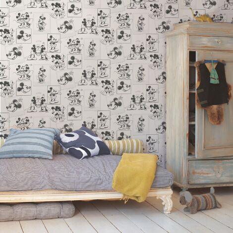 Disney Papier Peint Support Papier Mickey And Minnie Sketch Duplex