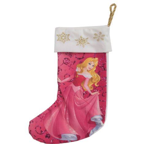 Disney Princess Aurora 35cm Pink Christmas Stocking