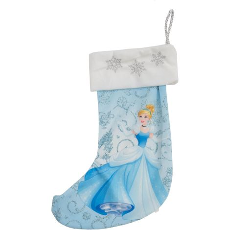 Disney Princess Cinderella 35cm Blue Christmas Stocking