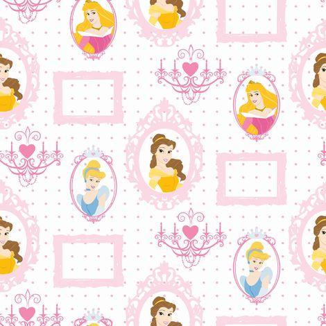 Disney Princess Royal Frames Pink Multi Kids Wallpaper Was 15