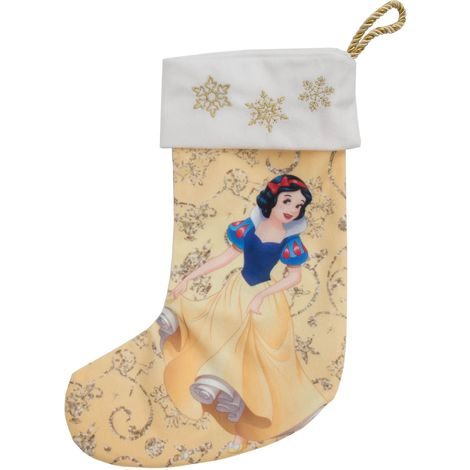 Disney Princess Snow White 35cm Golden Yellow Christmas Stocking