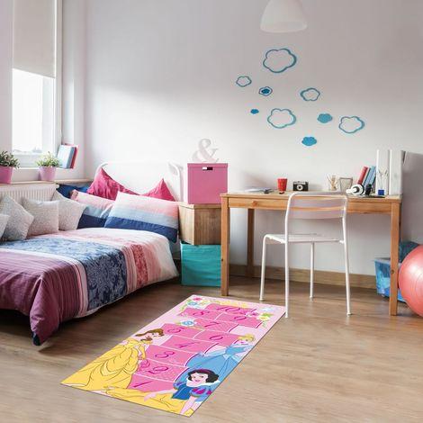 Disney PRINCESSES ROYAL 80x160 cm Tapis enfant Tapis Chambre Tapis Rectangulaire Tapis Rose