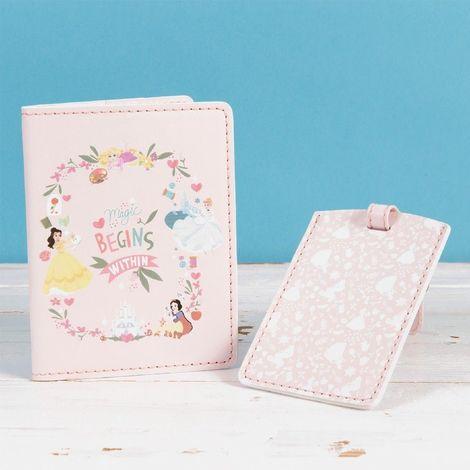 Disney True Princess Pink Luggage Tag & Passport Set - Magic Begins Within