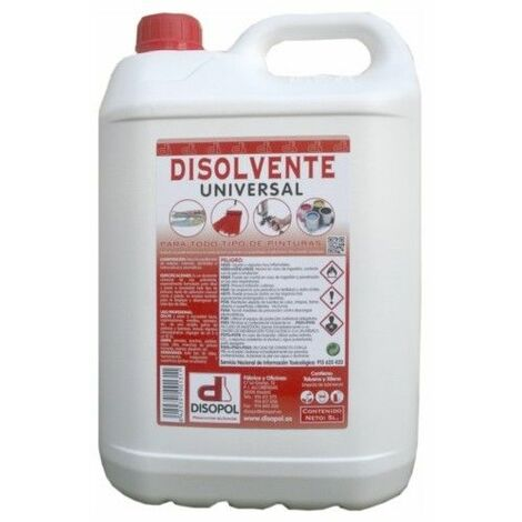 Disolvente Limpieza Universal Envase Plastico Nitro Disopol 5 Lt