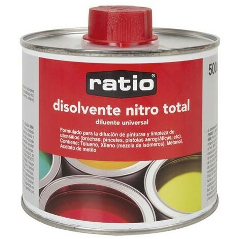 DISOLVENTE UNIVERSAL NITRO TOTAL RATIO 500 ML