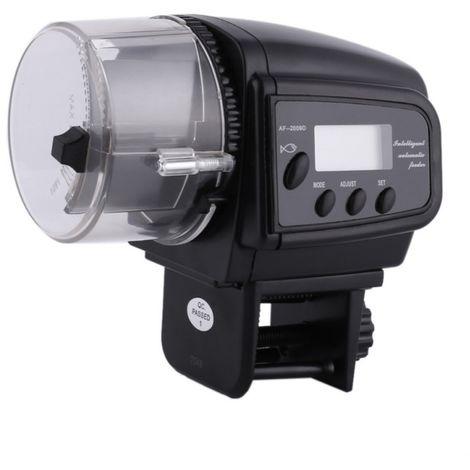 Dispensador Automatico Comida Peces Acuario Pecera LCD Comedero