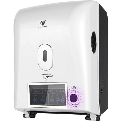Dispensador automatico de rollo de la mano Toalla En Con sensor, blanca