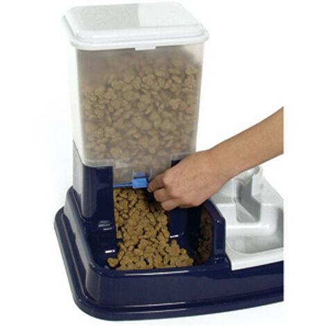 Dispensador de agua y comida para perros de 5 L y 1L Duo MAX azul