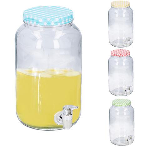 Dispensador de bebida cristal 3l con grifo
