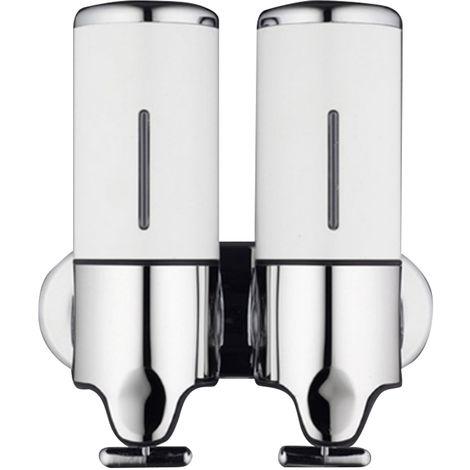Dispensador de jabon, envase de jabon liquido de doble botella,Blanco