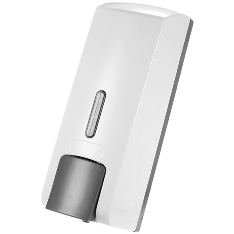 Dispensador de jabon manual de una sola botella, 300 ml, blanco