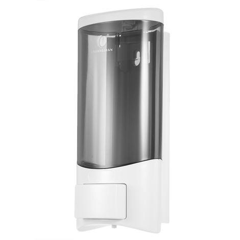 Dispensador de jabon manual de una sola botella, 500 ml, blanco