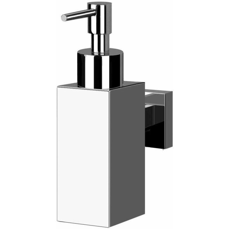 Gris 8,5 x 19 x 7,5 cm Wenko Vetro-Dispensador de jab/ón l/íquido 0,4 L