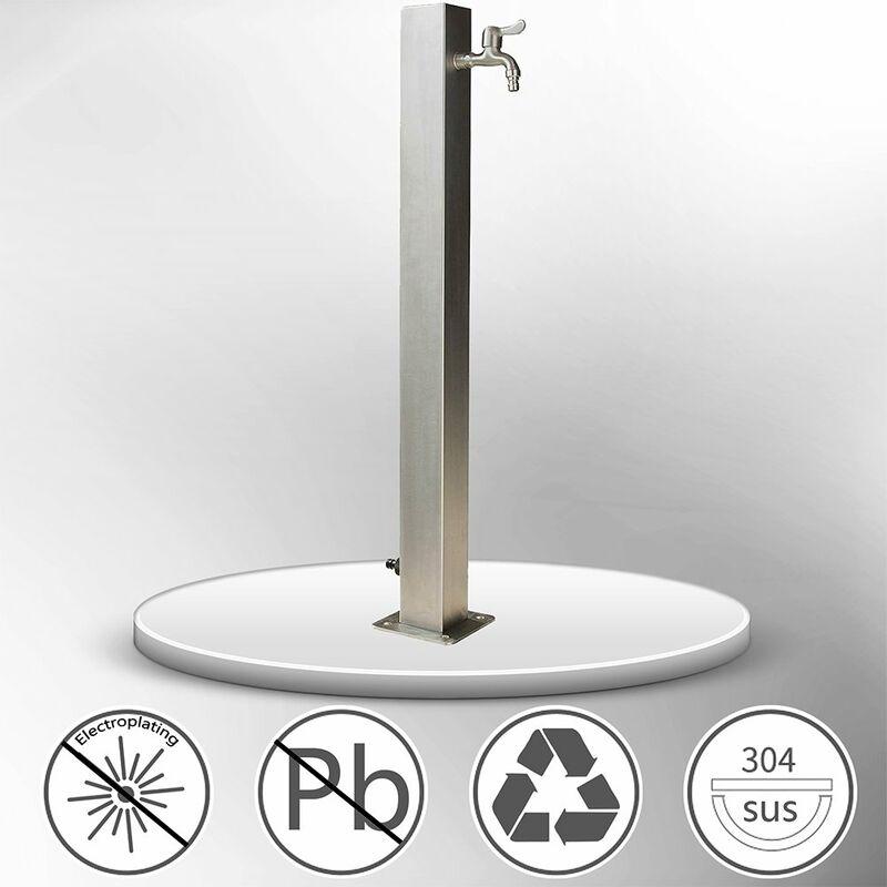 Columna de agua dispensador de jardín Fuente de jardín de acero inoxidable dispensador de agua exterior al aire libre Fuente de agua