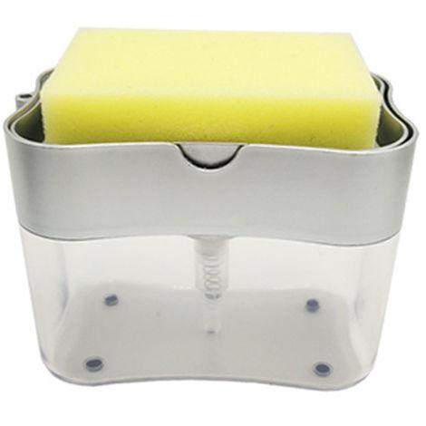 Dispensador de la bomba de detergente para lavavajillas automaticos cocina dispensador de jabon, gris oscuro