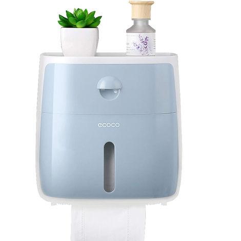 Dispensador de panuelos de bano Caja de panuelos, azul blanco