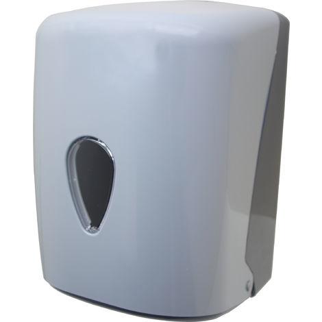 Dispensador de papel bobina tipo mecha gris - CM Baños