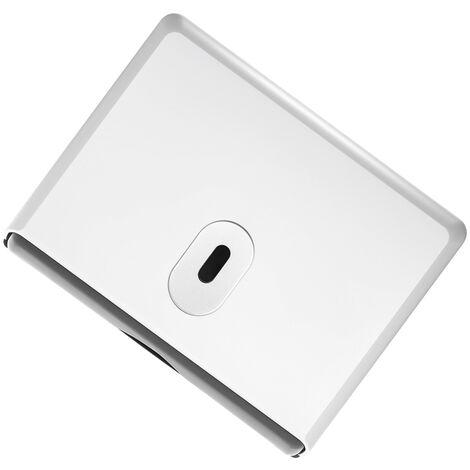 Dispensador de papel higienico de pared, caja de panuelos, blanco