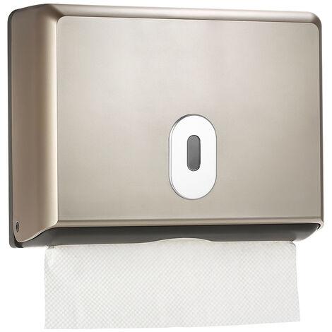 Dispensador de papel higienico de pared, Soporte para caja de panuelos,Dorado champagne