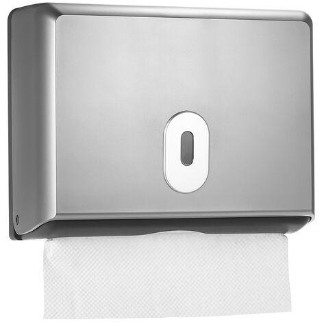 Dispensador de papel higienico montado en la pared Caja de panuelos,Plata