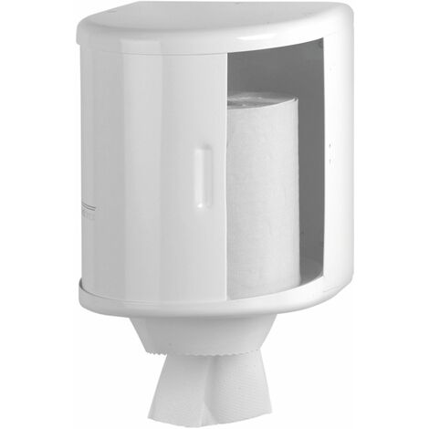Mediclinics - Dispensador de papel toalla bobina Acabado - Acero Epoxi Blanco