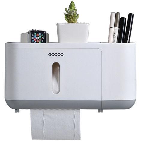 Dispensador de toallas de papel, dispensador de papel higienico, gris