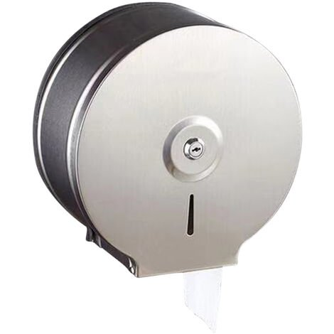 Dispensador de toallas de papel montado en la pared de papel de perforacion titular Dispensador de toallas acero inoxidable cepillado de papel higienico dispensador de papel higienico Dispensador de toallas de cocina redonda con 2 llaves