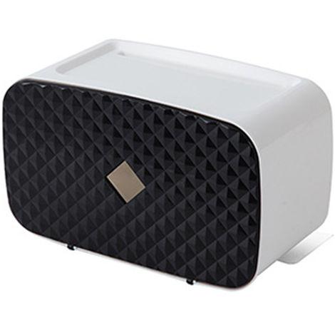 Dispensador de toallas de papel, montado en la pared,negro
