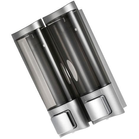 Dispensador manual de jabon de manos, dispensador de champ¨², 200 ml x 2, Blanco(no se puede enviar a Baleares)