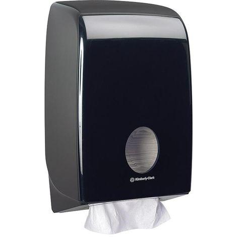 Dispensador papel higiénico Aquarius Interfold negro