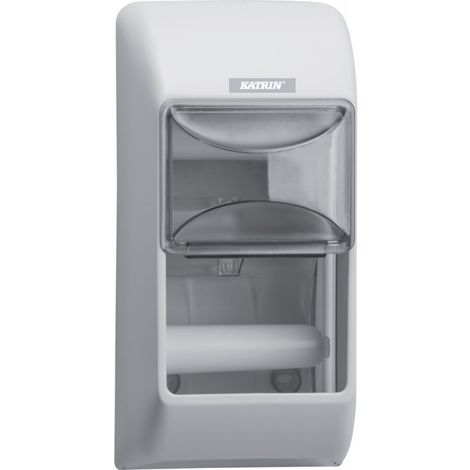 Dispensador papel higiénico WC, 2-rodillos, blanco