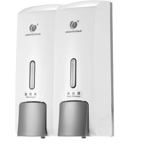 Dispensadores de jabon de dos c¨¢maras manuales, Shampoo Box, 300 ml * 2