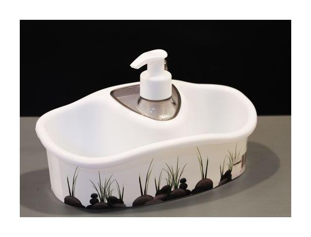 Porta Spugne Da Bagno : Dispenser dosatore per sapone liquido ml con porta spugna