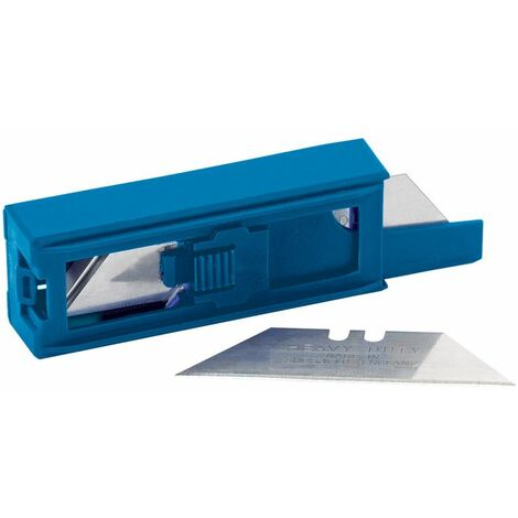 Dispenser of 10 Two Notch Trimming Knife/Window Scraper Blades (43388)