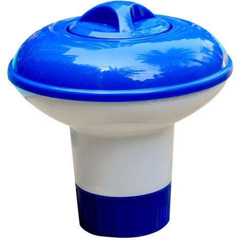 Dispenser per pastiglie di cloro da piscina con mini galleggiante per piscina, per piscina, spa, vasca idromassaggio e fontana, perfetto per piscine fuori terra gonfiabili