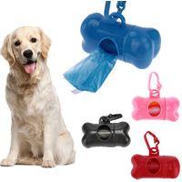 Dispenser Porta Sacchetti per Cani + 3 Rotoli Sacchetto Raccogli Feci Animali