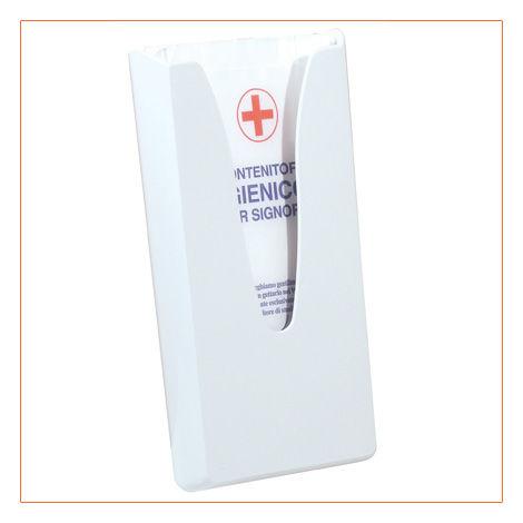 Dispenser sacchetti igienici in carta: per igiene femminile - modello Bianco