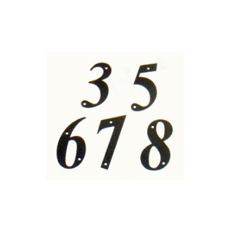 Display Numero 6 -m.4 Negro 10cm.