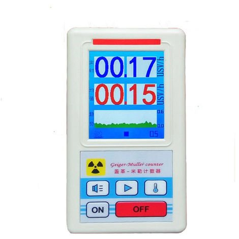 Display Screen Geiger Counter Nuclear Radiation Detector Personal Dosimeter Marble Detectors