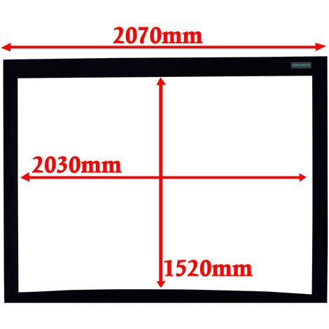 DisplayMatic - Projection screen 4:3 2030x1520mm fixed curve wall