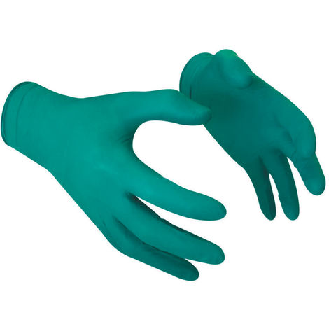 Disposable Gloves, Green Nitrile (Box-100)