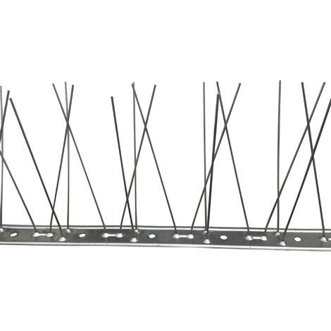 Dispositif anti-pigeon base inox - Longueur 1 m
