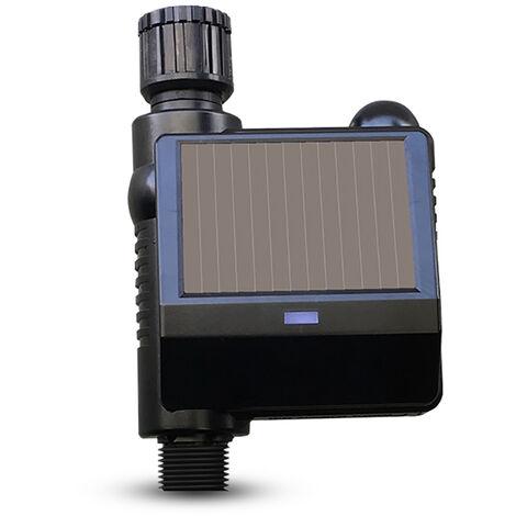 Dispositif d'arrosage automatique solaire de jardinage KKmoon (neutre) Systeme d'irrigation intelligent Tuya Dispositif d'arrosage automatique paresseux Modele solaire QT-05M sans batterie + passerelle de support Passerelle intelligente QTW-01 sans batter